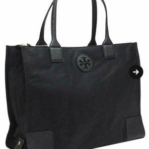 Tory Burch Ella Packable Nylon Tote-Black